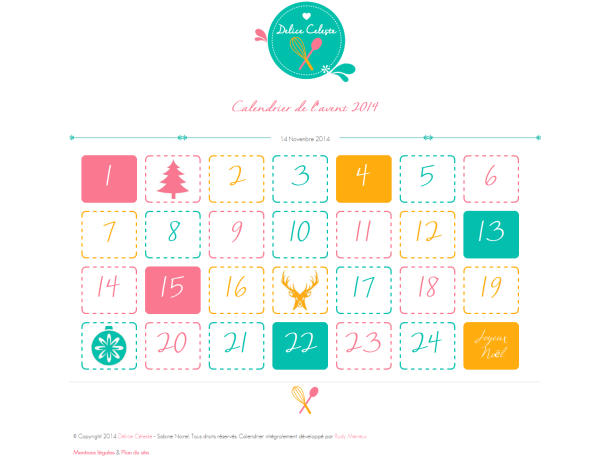calendrier de l 39 avent des cadeaux tous les jours sur mon. Black Bedroom Furniture Sets. Home Design Ideas