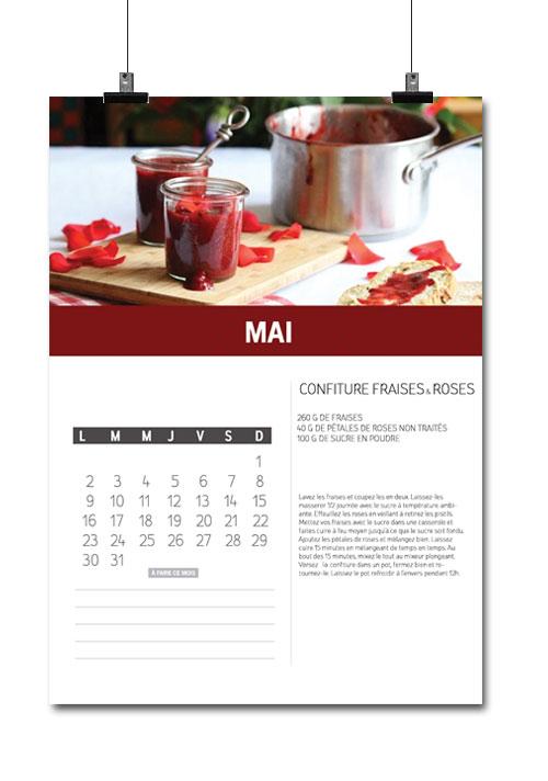 calendrier cuisine mai recette
